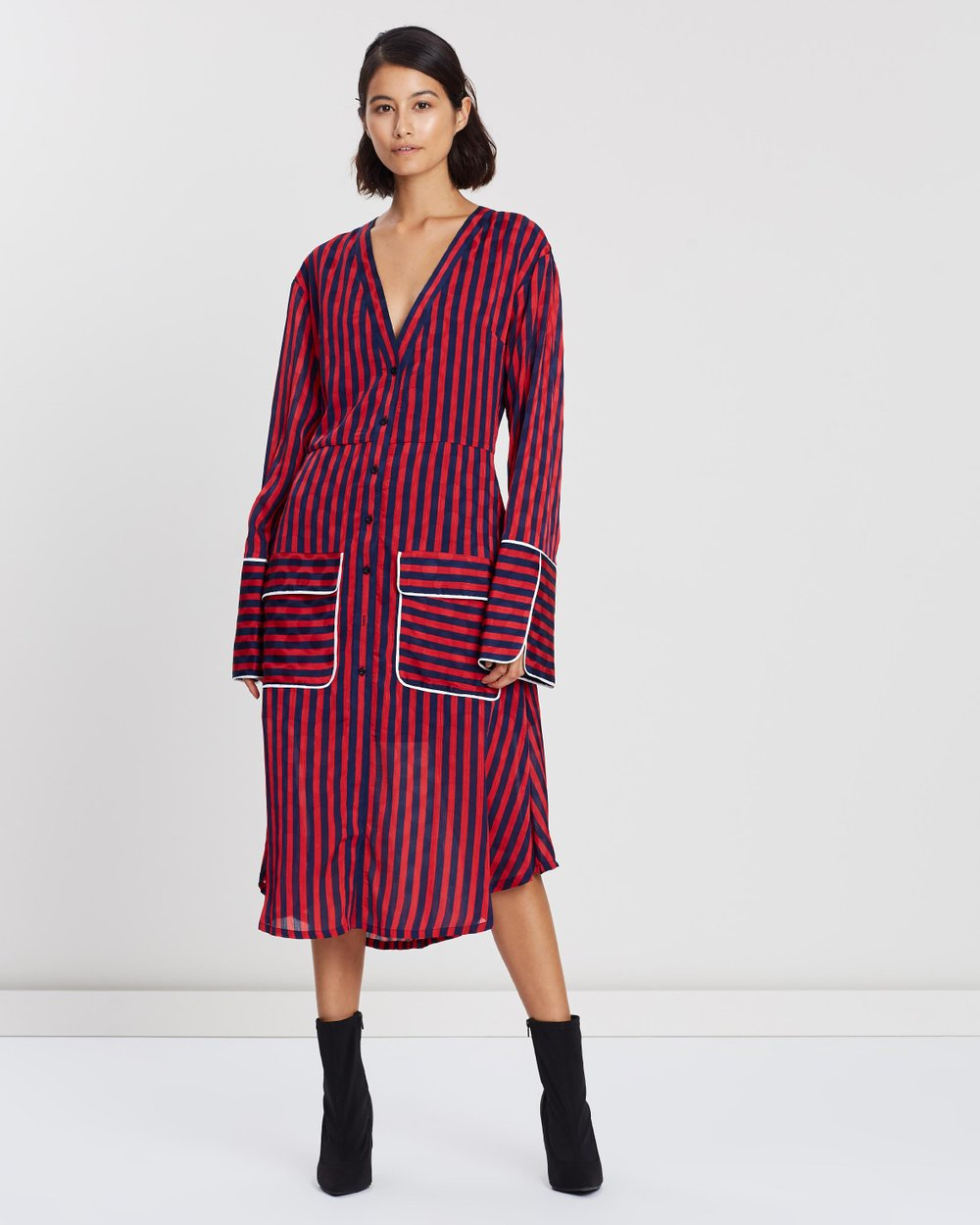 4842d729f6277 Striped A-Line Shirt Dress by House of Holland Online | THE ICONIC |  Australia