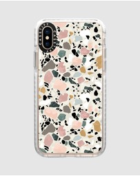 Casetify - Terrazzo Impact Protective Case For iPhone XS/ iPhone X