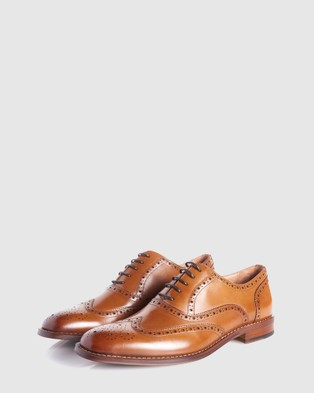 3 Wise Men The Elton - Dress Shoes (Tan)