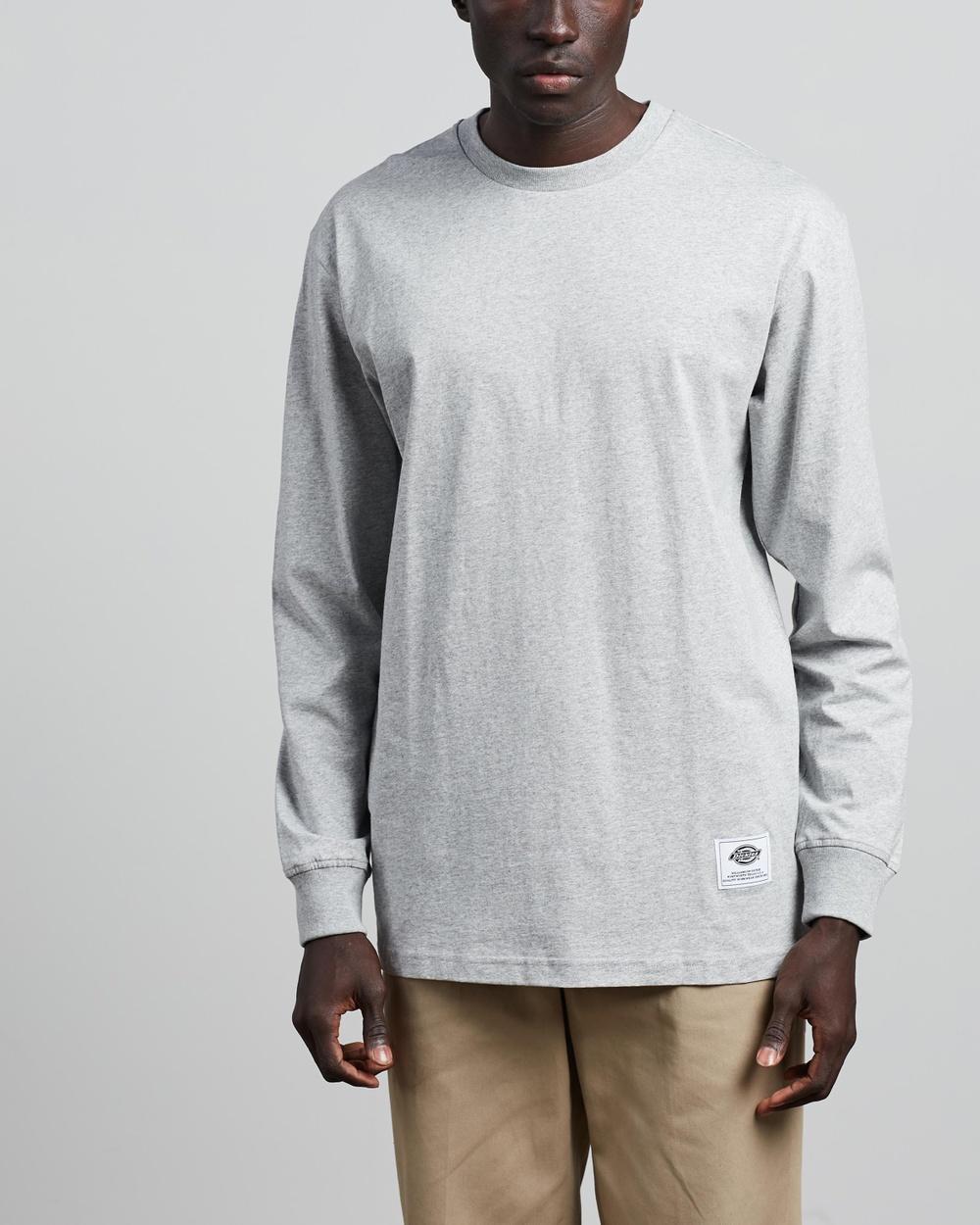 Dickies - Inez Long Sleeve Tee - T-Shirts & Singlets (Grey Marle) Inez Long Sleeve Tee