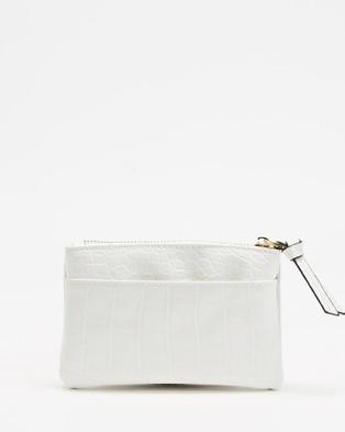 PETA AND JAIN Bardot Coin Purse - Bags (White Croc)