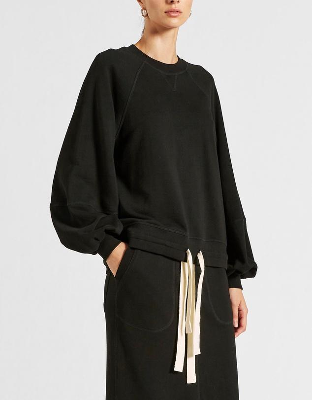 Women Vince Organic Fleece Balloon Sleeve Sweater