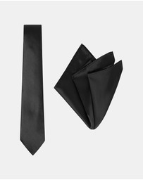 Buckle - Plain Tie & Pocket Square Set
