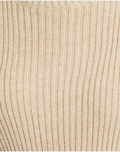Isabelle Quinn Pascale Knit Top Caramel