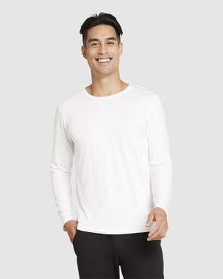 Boody Organic Bamboo Eco Wear 4 Pack Long Sleeve Crew Neck T Shirt - Long Sleeve T-Shirts (Multi)
