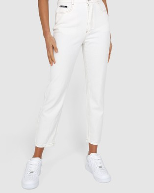 BY.DYLN Harlow Mom Jeans - Mom Jeans (Milk)