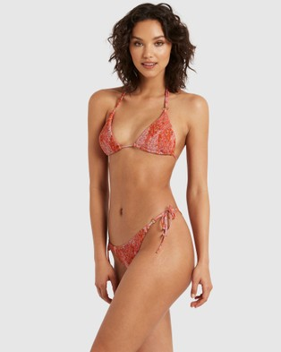 Bond-Eye Swimwear - Garden Floral Mena Triangle (Peach)