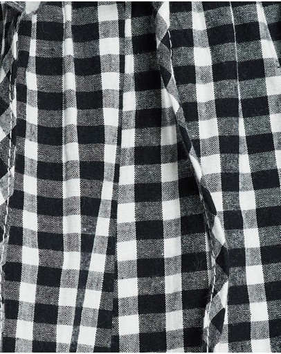 Dazie Over You Check Waisted Pants Gingham