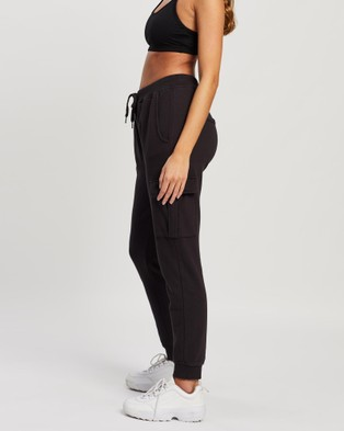All About Eve - Combat Trackpant Pants (WASHED BLACK)