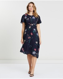 Oasis - Lydia Lilly Twist Front Midi Dress