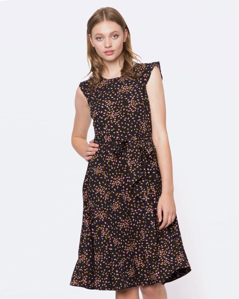 Princess Highway Chloe Dress Printed Dresses Black Chloe Dress