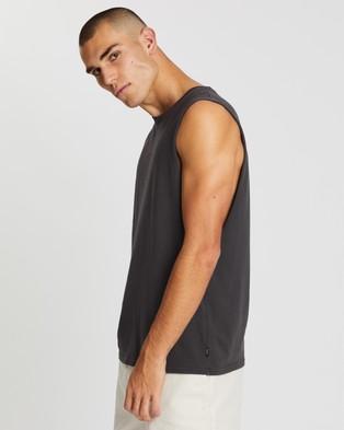 Afends Full Circle Bandcut Tee - T-Shirts & Singlets (Vintage Black)