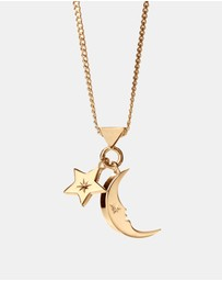 Karen Walker - Moon and Star Charm Necklace