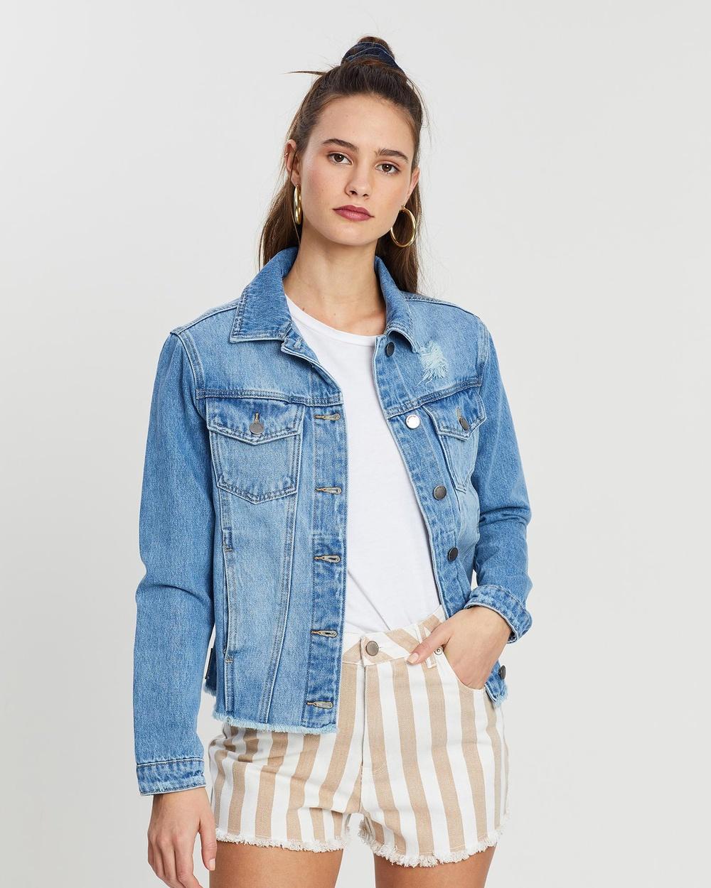 All About Eve Mazie Denim Jacket jacket DENIM