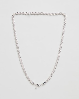 Chained & Able Rope Chunky Chain Necklace - Jewellery (Silver)