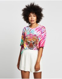 Camilla - Oversized Tie-Dye Band Tee