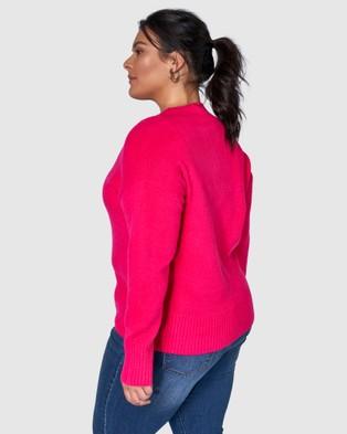 Indigo Tonic Josie Textured Jumper - Jumpers & Cardigans (Pink)