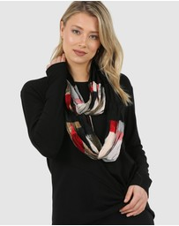 Faye Black Label - Paintbrush Red Fleck Scarf