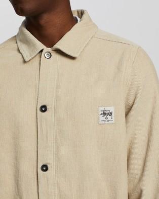 Stussy - Leroy Cord Chore Jacket - Coats & Jackets (Sand) Leroy Cord Chore Jacket