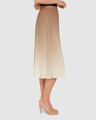 Forever New Odessa Ombre Pleated Skirt - Pleated skirts (Camel)