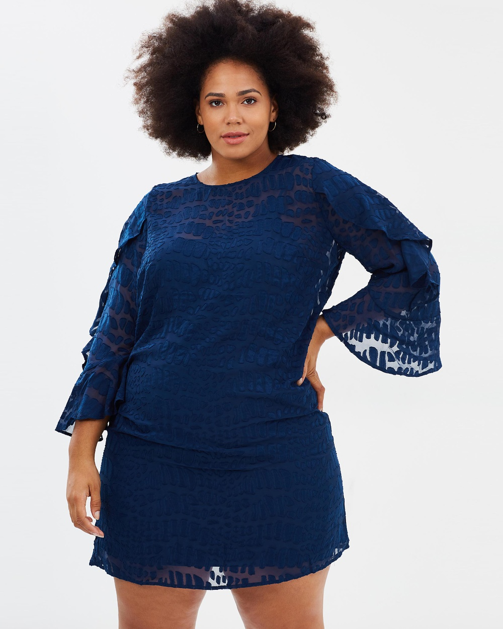 Cooper St CS CURVY Into The Pines Shift Dress Dresses Navy CS CURVY Into The Pines Shift Dress