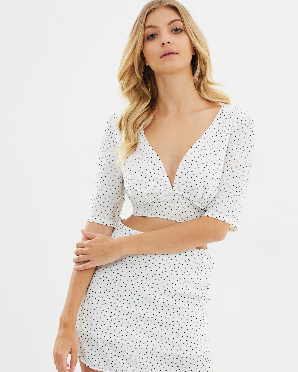 Toby Heart Ginger Spot On Top Cropped tops White/Black Spot Spot On Top
