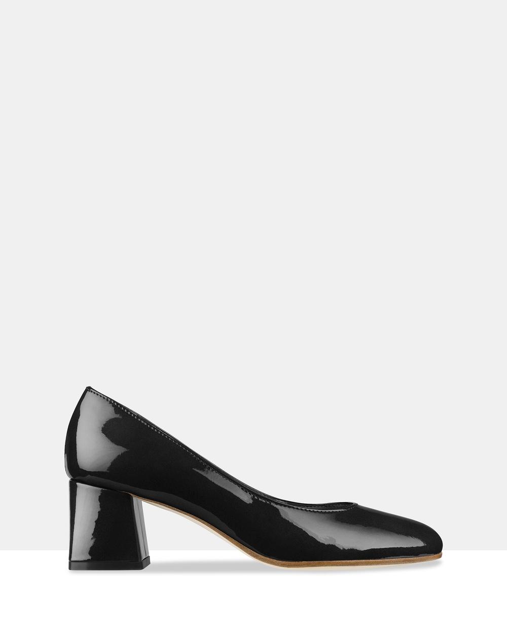 Habbot Barkly Block Heels Mid-low heels Black Barkly Block Heels