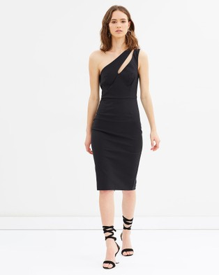 Grace Willow – Natalie One Shoulder Dress – Bodycon Dresses Black