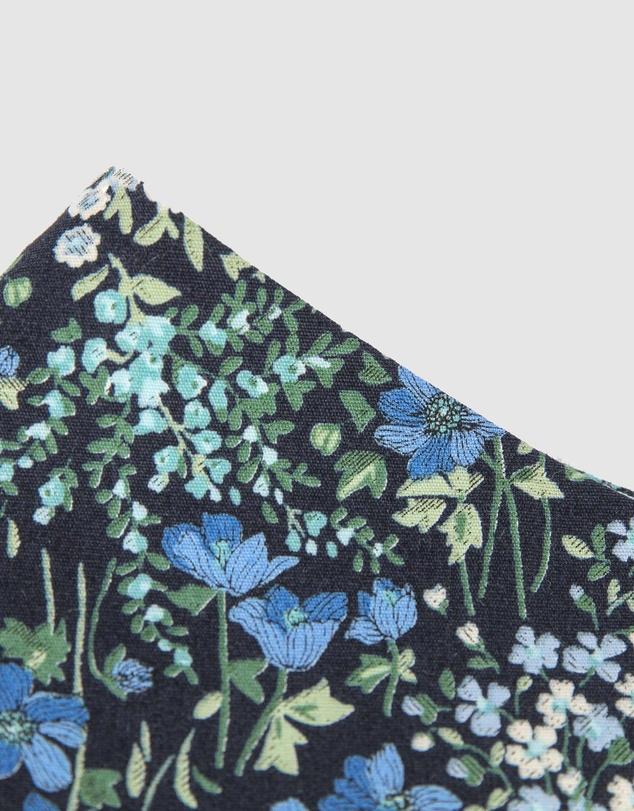 Women Reusable Cotton Face Mask Blue Flowers