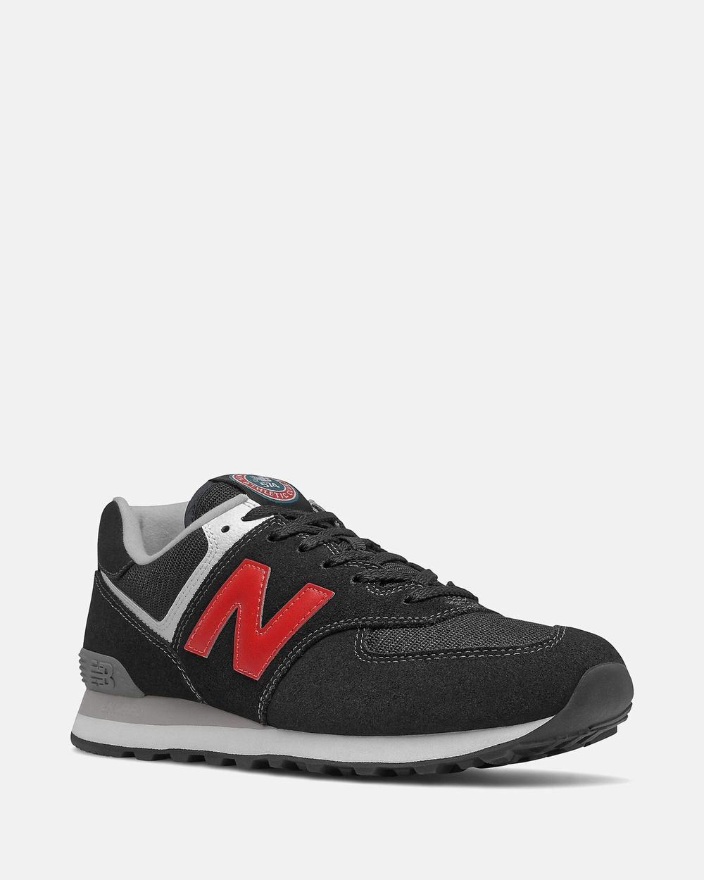 New Balance 574 Standard Fit Men's Performance Shoes Black Australia