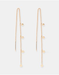 By Charlotte - Star Bright Thread Earrings