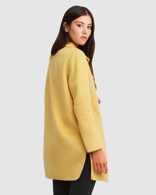 Belle & Bloom Ex Boyfriend Wool Blend Oversized Coat - Coats & Jackets (Yellow)