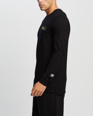 Blood Brother Branding Printed LS Tee - T-Shirts & Singlets (Black)