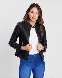 Dorothy Perkins - Collarless PU Jacket