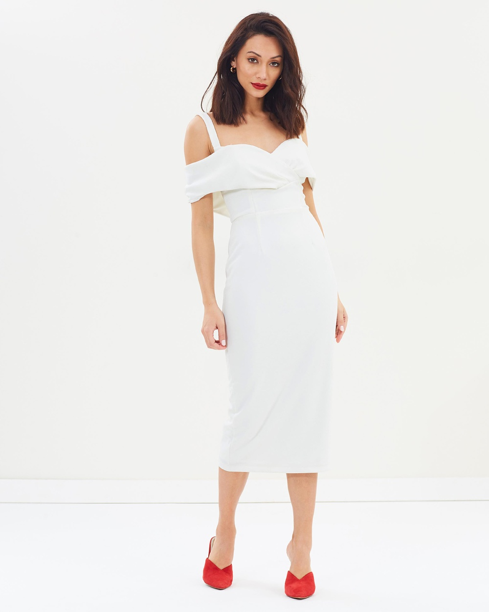 Pasduchas Riviera Midi Dress Dresses Ivory Riviera Midi Dress