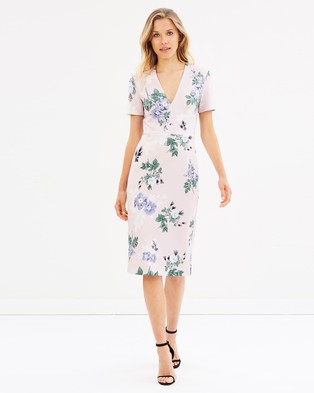 Lover – Petunia V Sheath THE ICONIC EXCLUSIVE – Printed Dresses Pearl