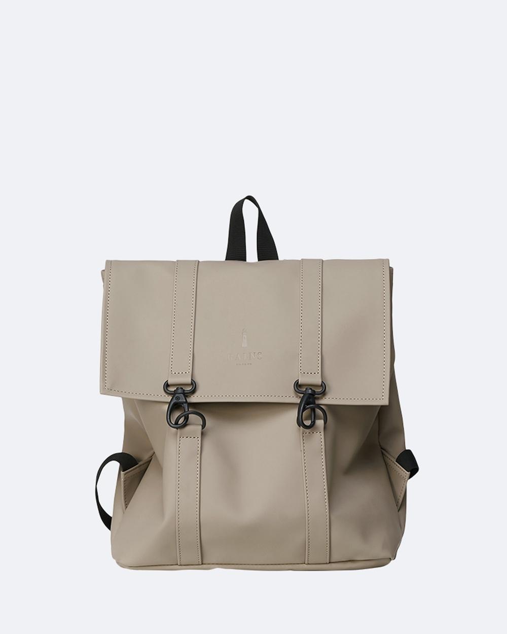 RAINS MSN Bag Mini Backpacks Taupe