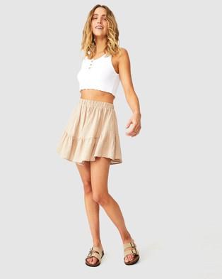 Cotton On Spin Me Around Circle Skirt - Skirts (Latte)