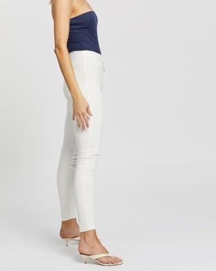 Glamorous Skinny Jeans - High-Waisted (White)