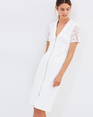 Lover – Violet Sheath Dress – Dresses (Ivory)