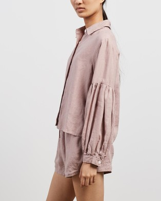 Des Sen Corbusier Crop Shirt - Tops (Rose)