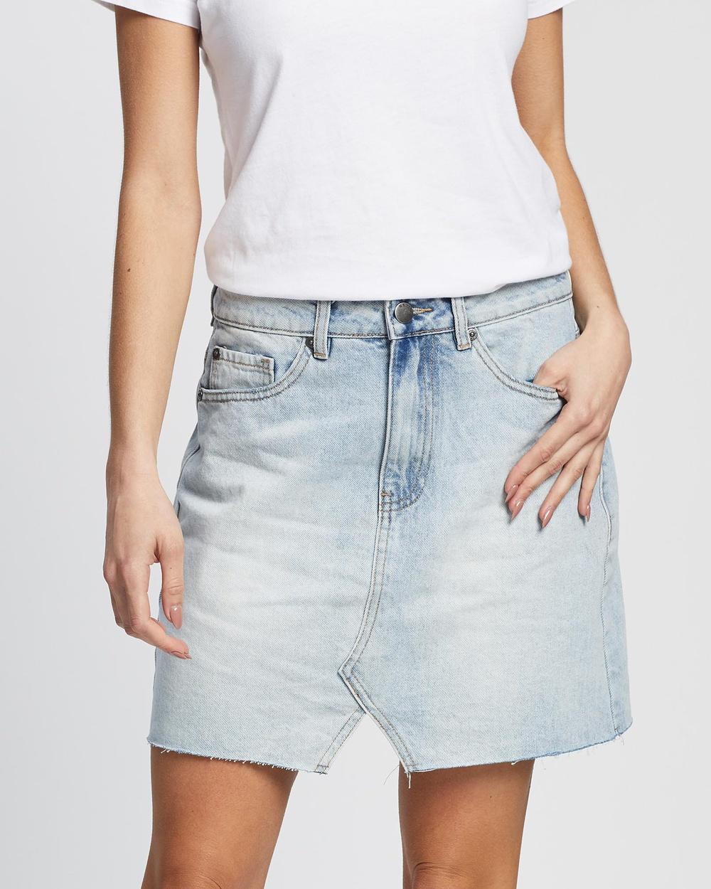 All About Eve Shea Split Denim Skirt skirts DENIM