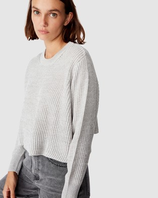 Cotton On Archy 2 Cropped Pullover - Jumpers & Cardigans (Grey Marle)