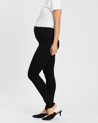 Soon Maternity Essential Over Belly Jeans - High-Waisted (Black)