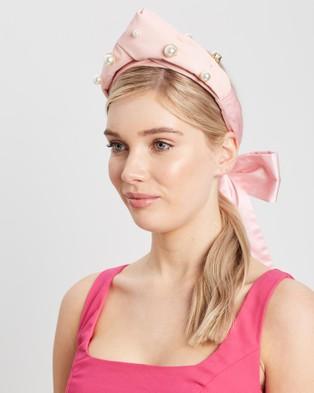 Heather McDowall Clara Turban Headband - Fascinators (Pink)
