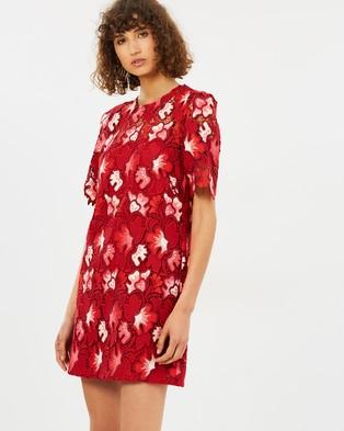 CAMILLA AND MARC – Aerie Mini – Printed Dresses Raspberry