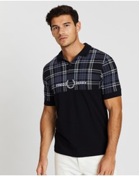 Fred Perry - Tartan Panel Polo Shirt