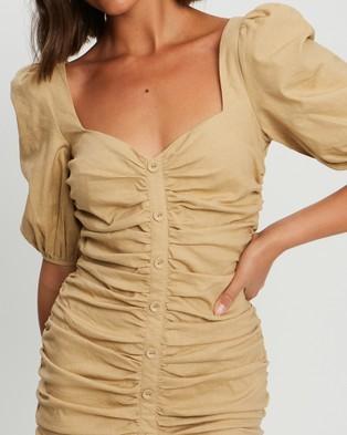 Savel Sorena Mini Dress - Dresses (Nude)