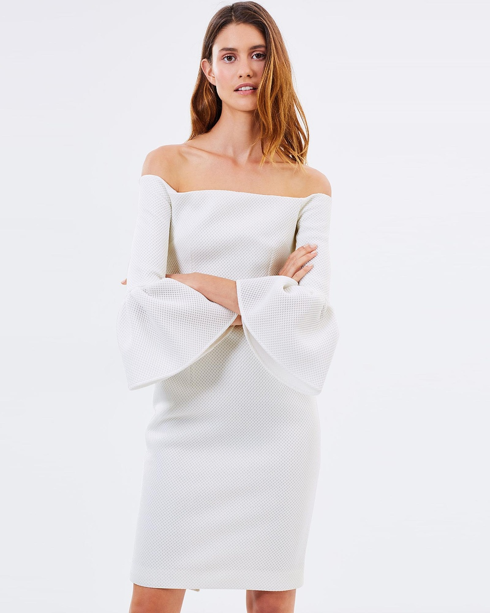 Friend of Audrey Alexa Midi Dress Dresses White Alexa Midi Dress