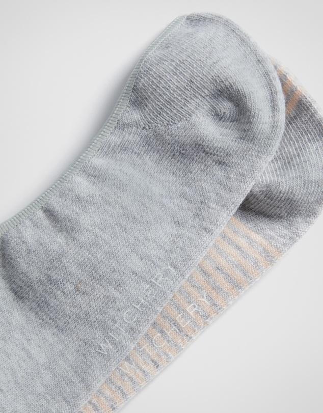 Women Striped Loafer Sock